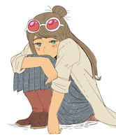 Ema Sitting by PastelWing