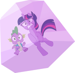 Twilight and Spike trapped by Dusk2k