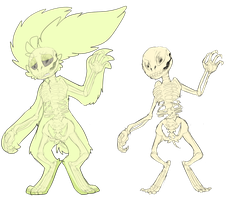 spooky scary skeletons by LionMushrooms