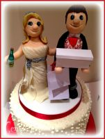 The Scarlett Wedding Cake Toppers by gertygetsgangster