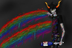 Gamzee: Fondly Regard Rainbows by freakout679