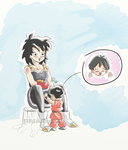Gine and little Pan by RMAlexis