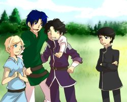 Commission : Just walking in a meadow by DarkHalo4321