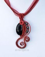 Reversed colours goth pendant by ukapala