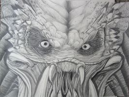 Predator Finished Drawing by corysmithart