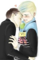 B.A.P 15 YoungLo Apple Couple by syewe-yoss