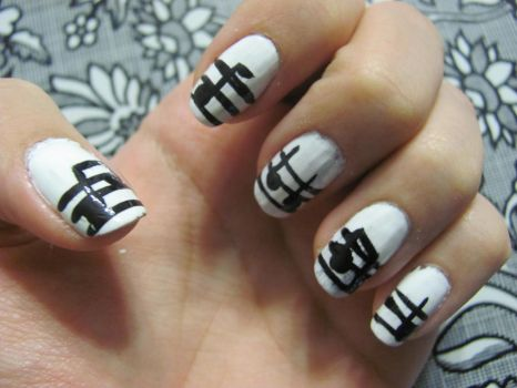music nails by Moohhh