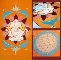 Ganesha paper cut by Liliana-Claire