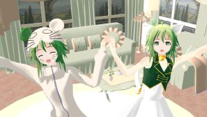 Cat and mouse wallpaper - MMD by Machus-san
