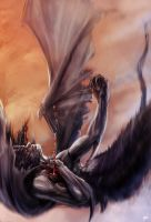 Death of Devilman by OmenD4