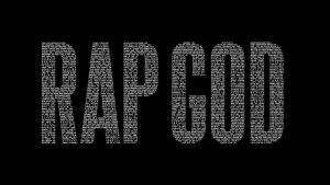 Rap God wallpaper (black) by edgarsvensson