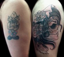 Clown Coverup 1st Session by Uken