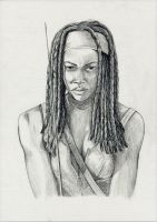 Michonne by Pikamine