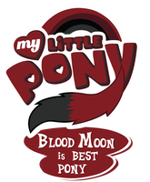 Commission MLP OC Logo - Blood Moon is Best Pony by MLPBlueRay