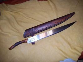 germanic  strait back seax by Ragimond