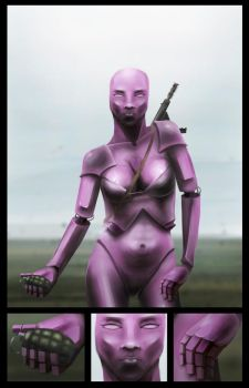 Female robot by Lundqvist1