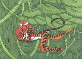 Tigra- In the Jungle by RobertMacQuarrie1
