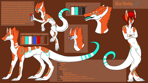 Akio Henley Ref Sheet -LARGEFILE- by MonsterMeds