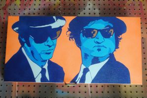 The Brothers Blue / Spraypaint by Joshfryguy