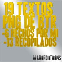 Pack de 19 Textos PNG de Big Time Rush by MariiEdiitiions