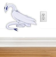 Large LUGIA wall sticker/indoor decal by SPPlushies