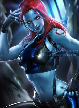 Mystique by sakimichan