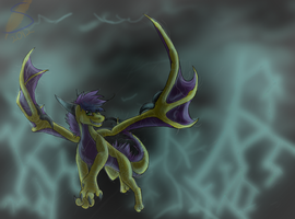 Stormy fly by safirethedragon