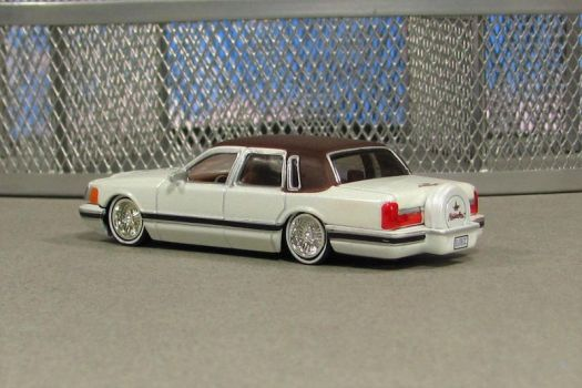 1990 Lincoln Town Car - white r - Jada by Deanomite17703