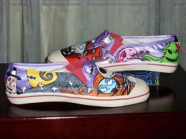 The Nightmare Before Christmas Handpainted Shoes by rachelliles352