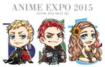 AA: Anime Expo Chibis by taiwonton