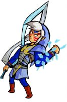 Fierce Deity Link - tWW style by Skull-the-Kid