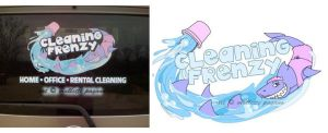 Cleaning Frenzy Logo by mallettepagan0