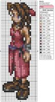 Final Fantasy VII - Aeris by Makibird-Stitching