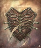 Shield of Bones by valhadar