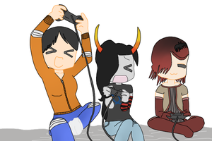 Friends Playing Video Games by Undead-Autumn