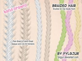 Braided Hair Brush Set by Fylgjur