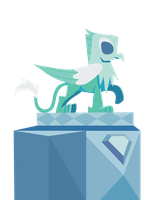 Crystal Griffon Statue (Show Vector) by Ethaes