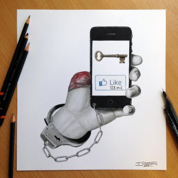 ``Self imposed limitations`` Pencil Drawing by AtomiccircuS