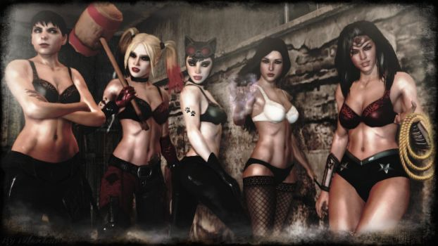 DC's sexy girls wallpaper by ethaclane