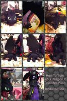 Deluxe Toothless Plush How To Train Your Dragon 2 by BeautifulHusky
