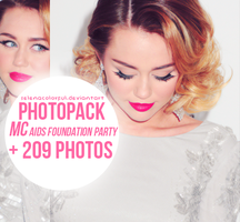 Miley Cyrus AIDS Foundantion Party PhotoPack by selenacolorful