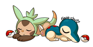 Sleepy Starters by Eevie-chu