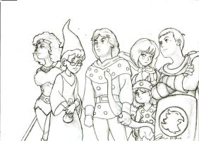 Toei's Dungeons and Dragons- Anime Style by j3px