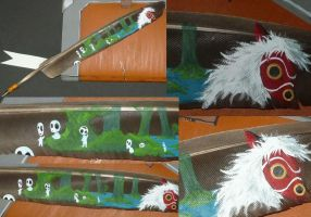 Mononoke Hime - Writers feather by Ganjamira