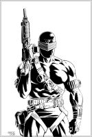 Mike Zeck's Snake Eyes by dubbery