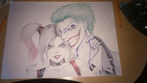 The Joker and Harley Quinn. by SkippyJuno