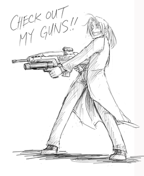 FMA - CHECK OUT MY GUNS by FerioWind