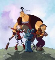 Dragon hunters - the movie poster (2-D version) by Fideliada