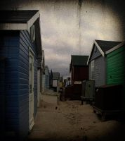 back of huts by awjay