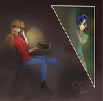 Sailor Moon: A Night at the Library (FanFic Art) by Sophie-Lou